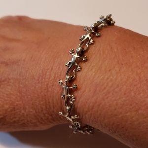 925 Silver Gecko Lizard Bracelet